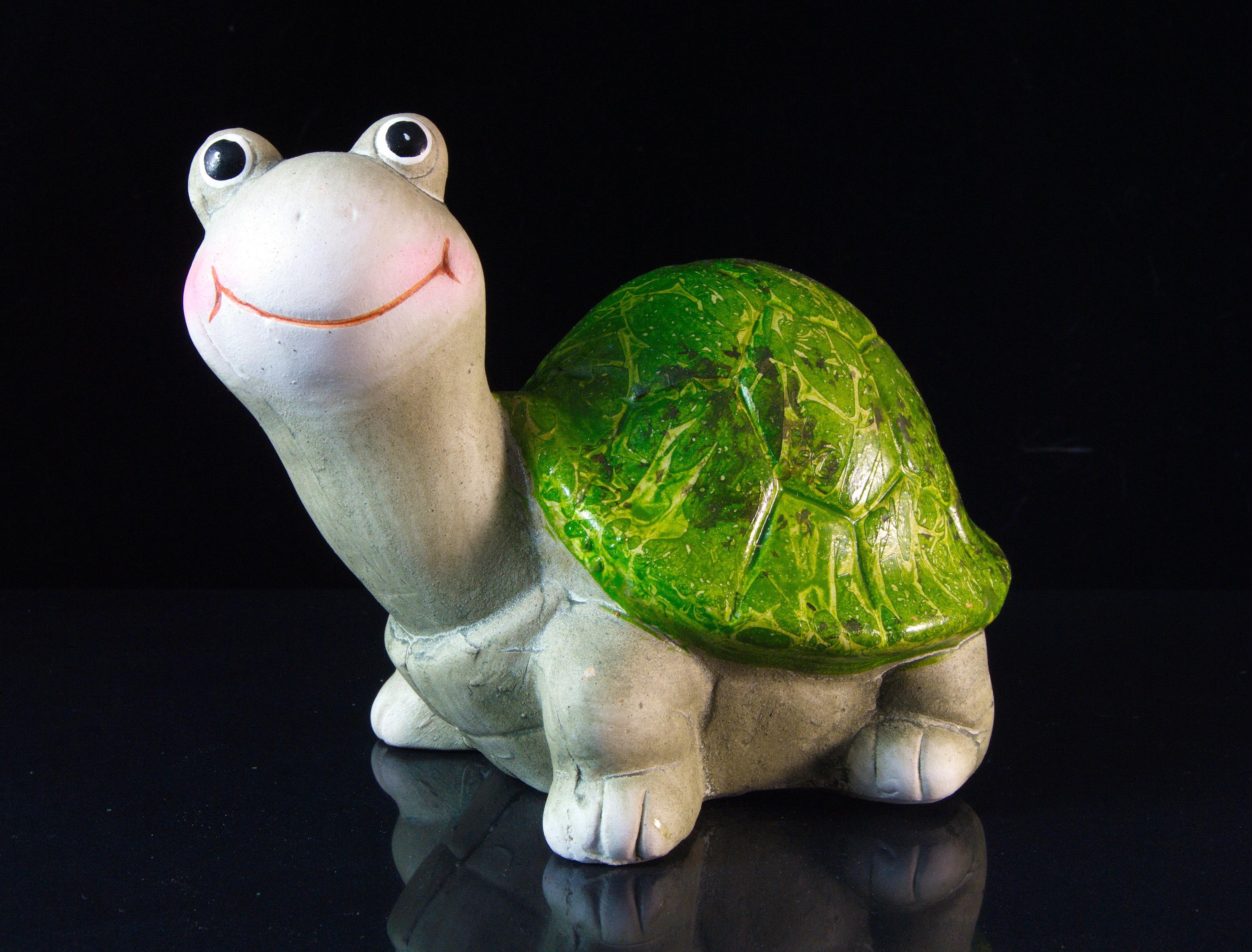 Schneemann Versand Schildkröte Hanni Keramik Deko Garten